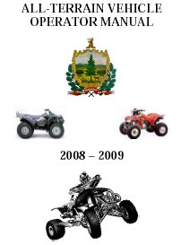Vermont ATV Operators Manual