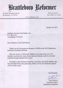 Reformer Christmas Stocking Letter - 2011