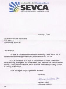 SEVCA Letter - 2011