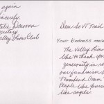 Valley Lions Letter - 2011